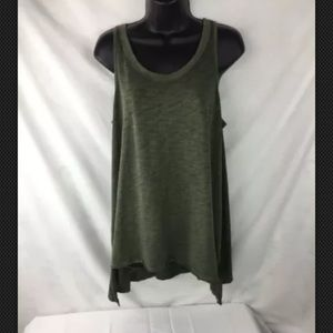 Mossimo Womens Tank Top Stretch Knit Green Large